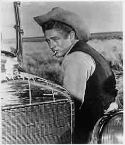 James Dean in Giant.  photo: Howard Frank Archives