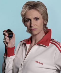 "Jane Lynch said despite being gay, she occasionally had ""crushes"" on men, such as Russell Brand"