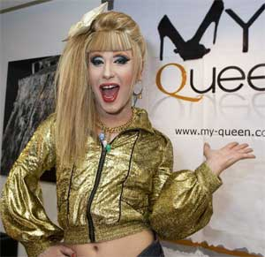 Jodie Harsh at the launch of MyQueen