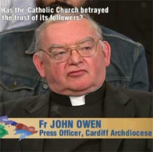 Father John Owen claimed gay men were to blame for paedophilia in the Catholic church