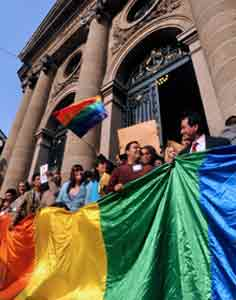 Mexico City legalised gay marriage last year.