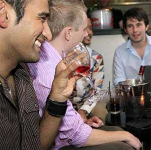 The networking events are designed for men in their twenties