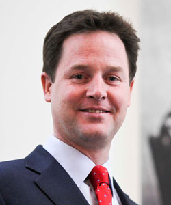 Nick Clegg is the leader of the Liberal Democrats