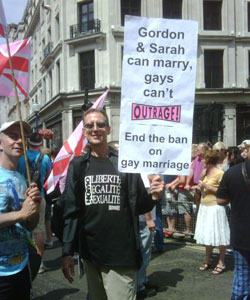 Peter Tatchell at Pride today