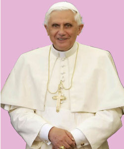 Pope Benedict XVI is a long time opponent of equal marriage and gay rights