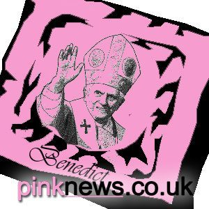 A mock-up of a Pope sponsored condom