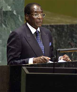 """Zimbabew president Robert Mugabe has said gay people are """"worse than dogs and pigs"""""""