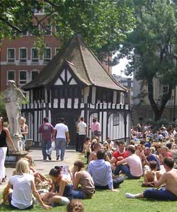 Soho Square is a popular meeting place