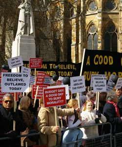 Event organiser Phil Whealy told PinkNews.co.uk that the protests were supported by people across the UK.