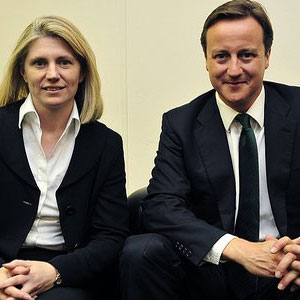 Philippa Stroud with prime minister David Cameron