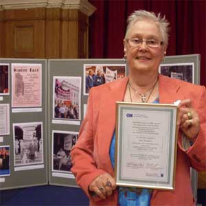 Sue Sanders was recognised for her lifetime of work (Photo: Nicolas Chinardet)
