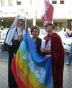 Activists at this year's IDAHO in Sydney