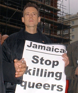 Peter Tatchell has criticised the police