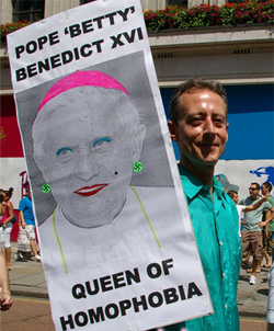 Peter Tatchell campaigns with OutRage!