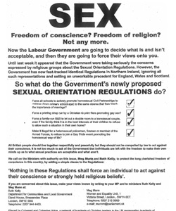Yesterday's Times newspaper featured an advert from a group of Christian leaders calling themselves Coherent and Cohesive Voice