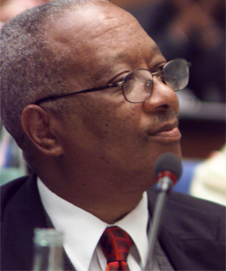 Apolo Nsibambi at the International Conference on Sustainable Food Security for All by 2020 in September 2001.