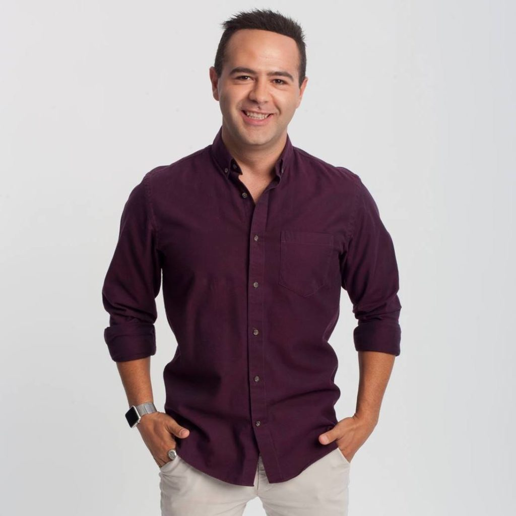 Gay journalist Aziz Al-Sa'afin, who was attacked in Pride New Zealand