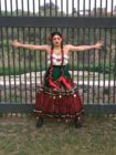 Photo of one of the drag queens taking part in the border wall protest.