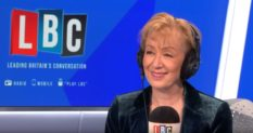 Andrea Leadsom appearing on LBC