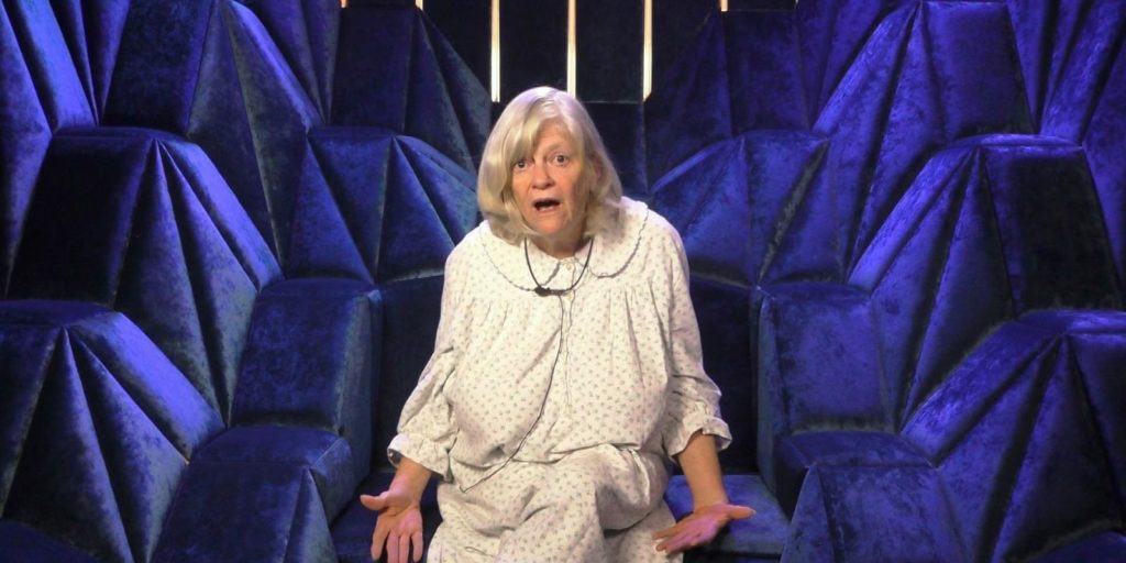 Ann Widdecombe giving a double thumbs up