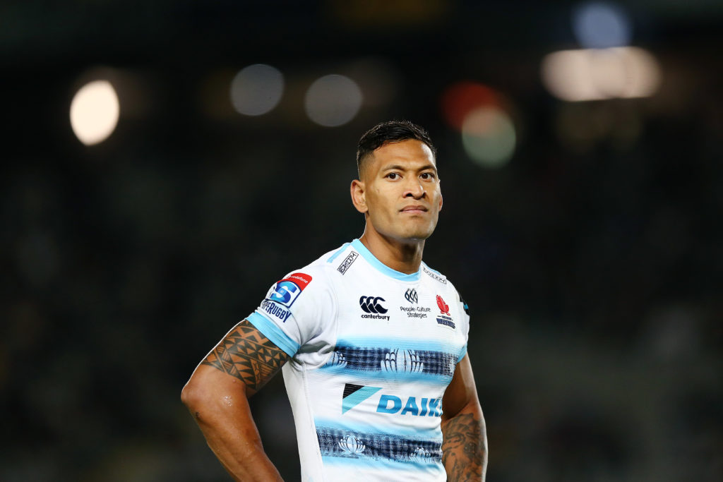 Rugby player Israel Folau, who was found guilty of breech of contract after posting anti-gay messages on social media.
