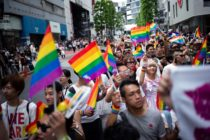LGBT campaigners attend a Pride event in Tokyo, Japan where the first refugee has been accepted on ground of LGBT+ persecution