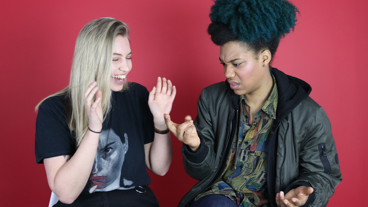 Poppy and Kemah share funny lesbian sex stories (PinkNews)