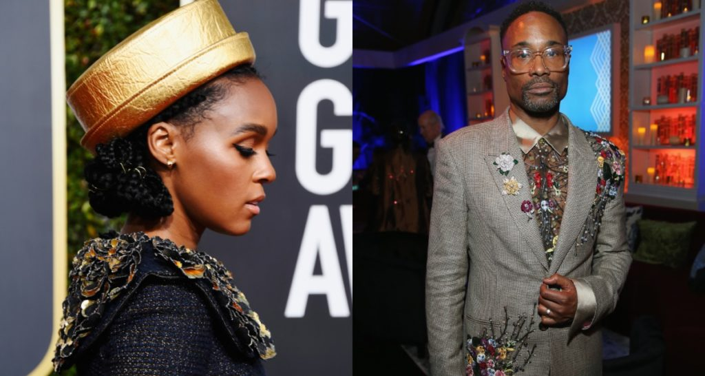 Janelle Monae and Billy Porter at the Golden Globes