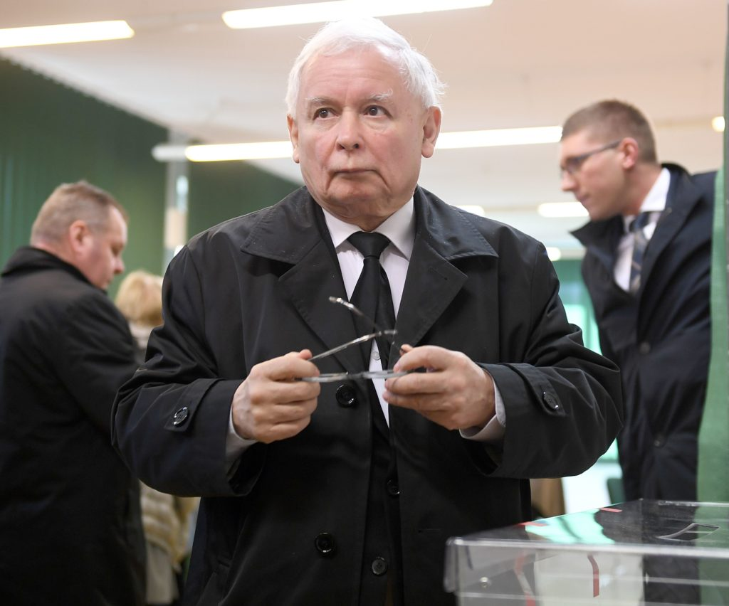 Jaroslaw Kaczynski, who calls LGBT+ rights a threat to Poland