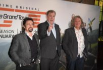 Richard Hammond, Jeremy Clarkson and James May attend a screening of 'The Grand Tour' season 3 held at The Brewery on January 15, 2019 in London, England