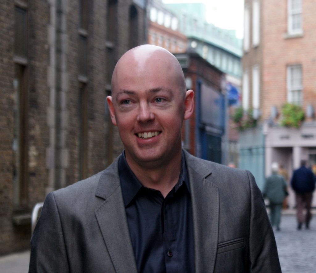 Author of trans novel John Boyne in Dublin.