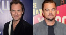 Jude Law and Leonardo DiCaprio, who are featured on a list of the smallest penises in Hollywood