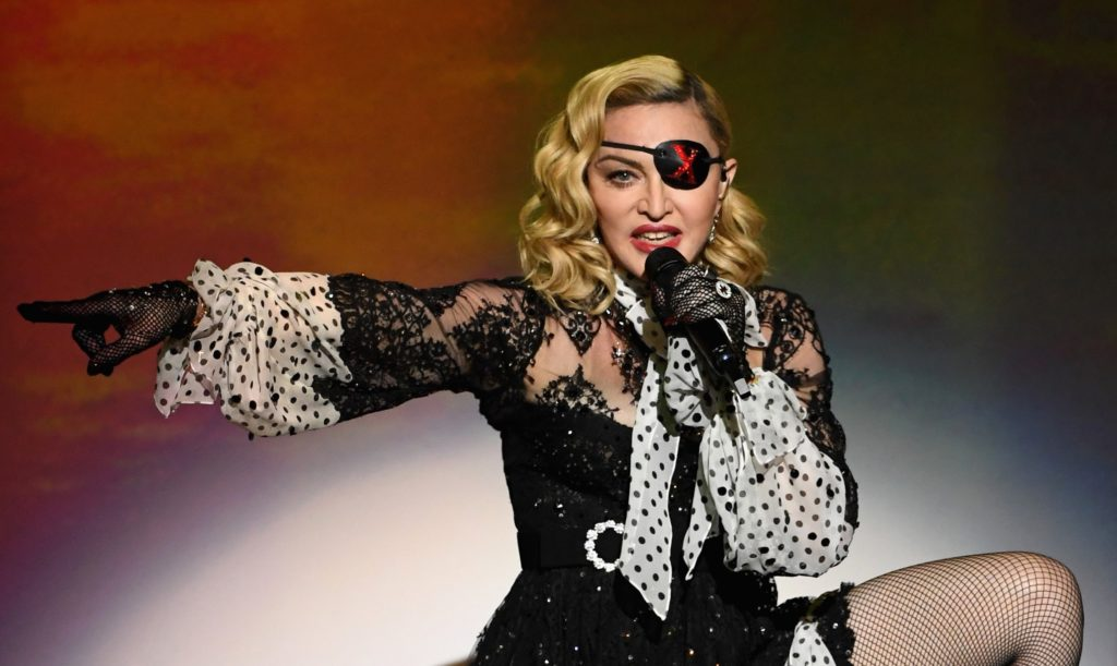 Madonna performs onstage during the 2019 Billboard Music Awards at MGM Grand Garden Arena on May 1, 2019 in Las Vegas, Nevada.