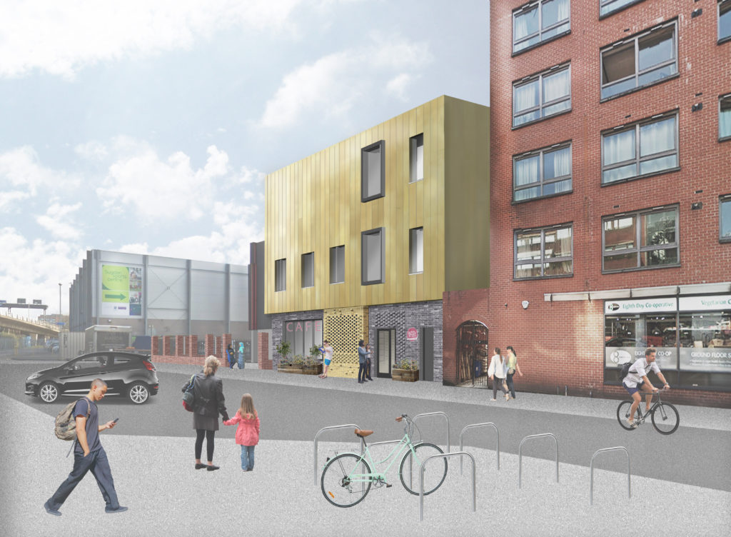 CGI of Manchester's LGBT+ centre