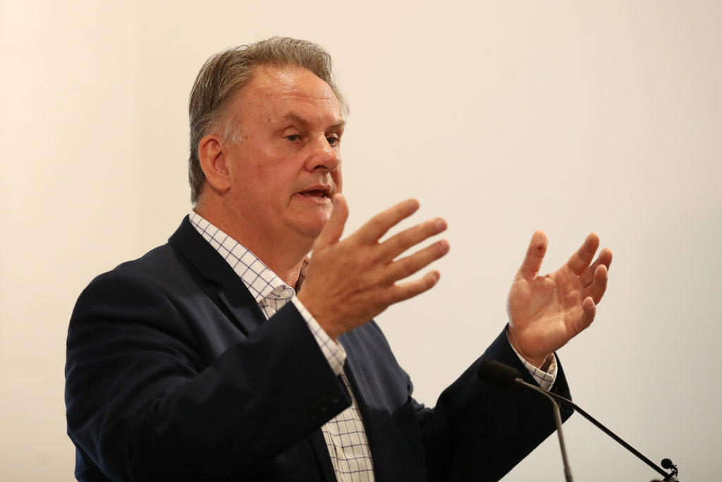 Mark Latham talks during the launch of his book on October 5, 2017 in Sydney, Australia.