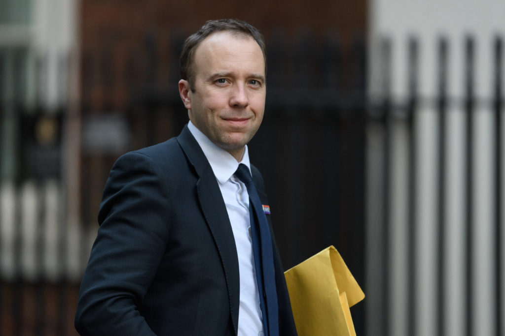 """health secretary Matt Hancock, who pledged to ensure there is a """"specific focus"""" on LGBT+ mental health as the UK marks Time to Talk Day"""