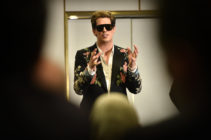 Right-wing British provocateur Milo Yiannopoulos answers questions during a speech at Parliament House in Canberra on December 5, 2017