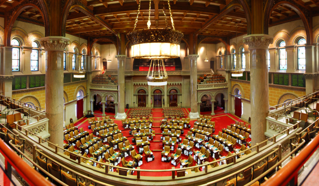 New York state's Assembly, which has passed a bill banning gay conversion therapy