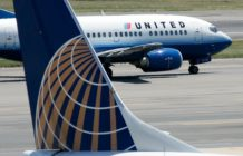 A United Airlines aircraft at Ronald Reagan National Airport August 16, 2006 in Washington, DC.