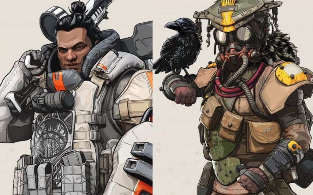 Makoa Gibraltar (left) and Bloodhound, two of the queer characters in new game Apex Legends