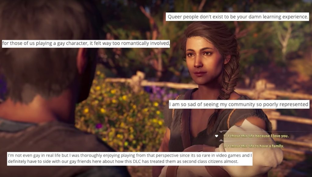 Assassin's Creed Odyssey forces characters into straight relationship
