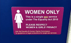 "The ""women only"" sticker"