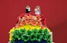 A gay wedding cake representing same-sex marriage
