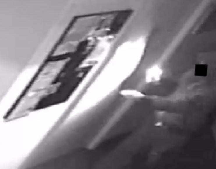 CCTV footage shows a thief entering the Gay Center.