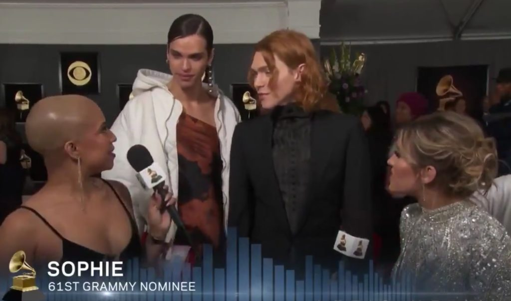 SOPHIE on the red carpet at the Grammy Awards