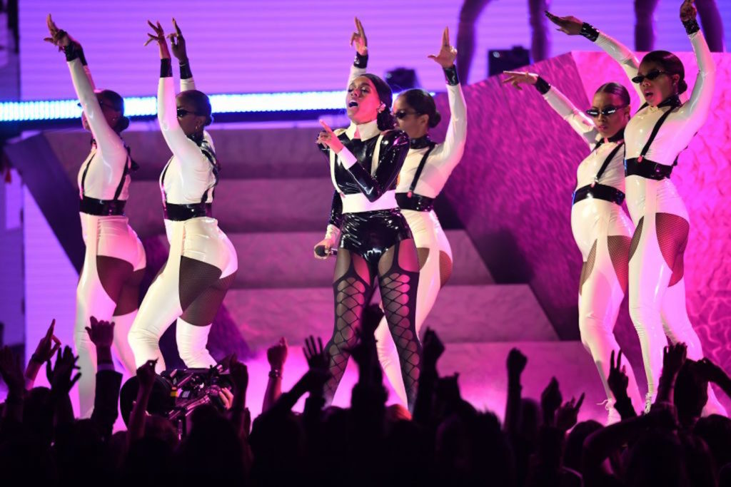Janelle Monae at the Grammys.