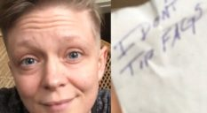 Michelle Crider, a lesbian waitress in Indiana who has gone viral with a Facebook video