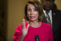 House Speaker Nancy Pelosi (D-CA) speaks during a news conference with members of House Democratic Leadership on Capitol Hill on January 3, 2019 in Washington, DC