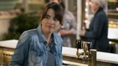Natalie Morales as bisexual character Abby in NBC sitcom Abby's.