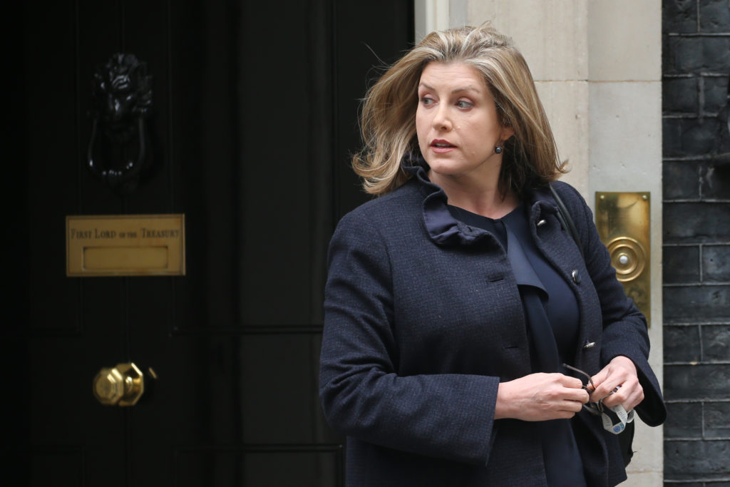Britain's International Development Secretary and Minister for Women and Equalities Penny Mordaunt leaves 10 Downing Street after attending a Cabinet meeting in London on April 23, 2019.